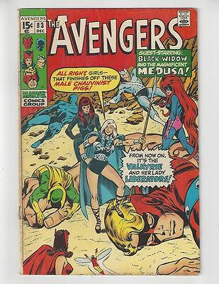 The Avengers #83/Bronze Age Marvel Comic Book/1st Valkyrie/FN