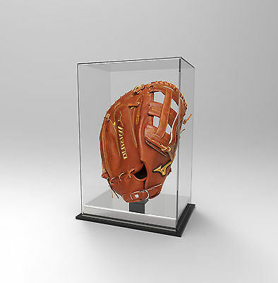 Baseball Glove Display Case Deluxe - Acrylic Perspex - SILVER