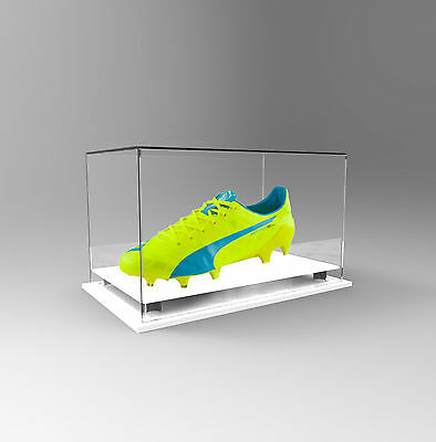 Single Boot / Shoe Display Acrylic Perspex Case - Display Boot or Shoe - WHITE