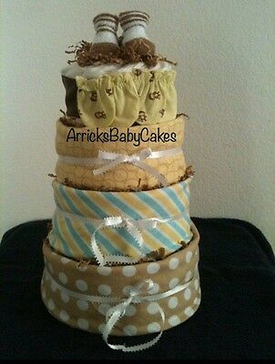 The Wonderful 4 Tier Surprise Baby Diaper Cake