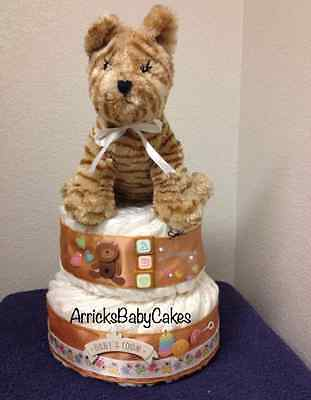 The Baby's Nursery 2 Tier Surprise Baby Diaper Cake