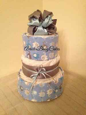 The Lucky Boy 3 Tier Baby Boy Diaper Cake