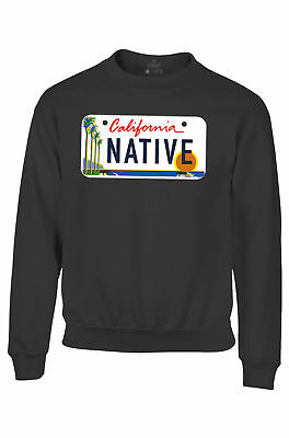 California Native License Plate Youth Crewneck Cali Souvenir State Sweatshirts