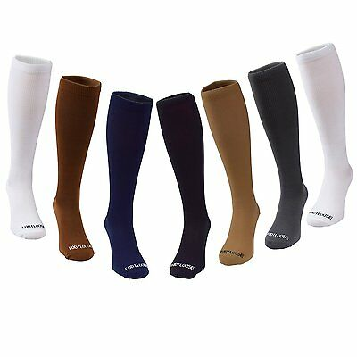 7 PAIR Footloose Compression Stockings Socks Mens Shoe 10-13 Knee-High L/XL (L2)