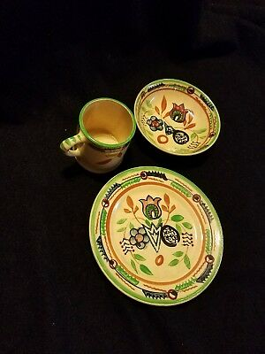 VTG Hand Painted Plate Bowl and Cup Made in Japan