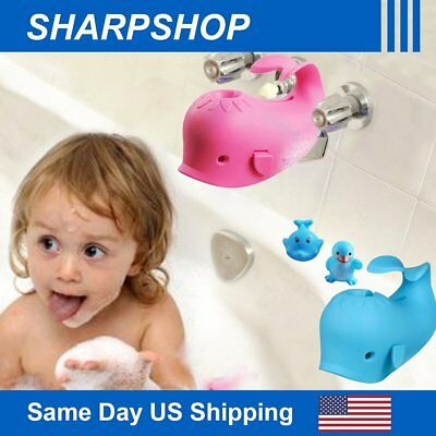 Whale Faucet Cover Bathtub Guard Soft Silicone Baby Bath Tub Safety Protector US