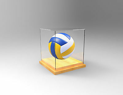 Volleyball Deluxe Premium Display Case - Competition Ball - TIMBER