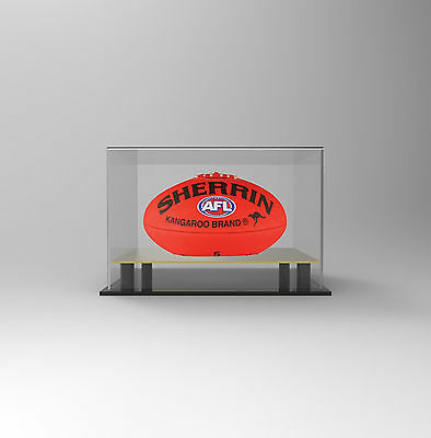 Football / AFL Deluxe Acrylic Perspex  Display Case - Display - GOLD Mirror