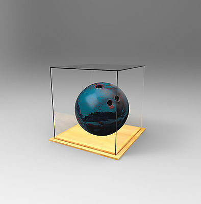 Tenpin Bowling Ball Premium Display Case Acrylic Perspex - TIMBER
