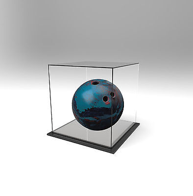 Tenpin Bowling Ball Deluxe Display Case Acrylic Perspex - SILVER