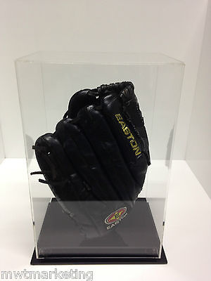 Baseball Glove Display Case Deluxe - Acrylic Perspex - BLACK