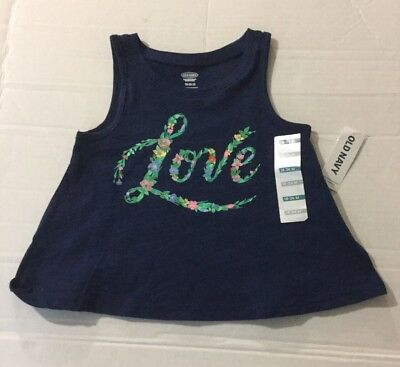 New Girls Old Navy Blue Flare Sleeveless Tank Top 18-24 Months