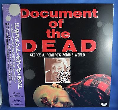 Document Of The Dead Laserdisc - Signed Autograph George Romero & Flyboy (Coa)