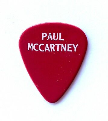 Paul McCartney Red Guitar Pick - 2013 New Tour