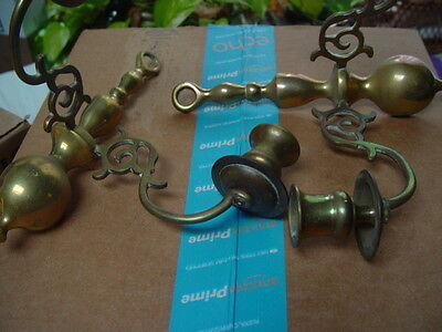 brass sconces and candlesticks