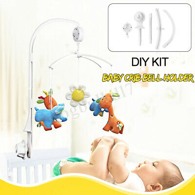 Baby Crib Mobile Bed Bell Toy Holder Arm Bracket + Wind-up Music Box DIY