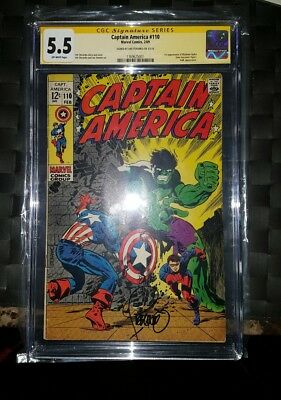 Captain America #110 (Feb 1969, Marvel) CGC 5.5 signed by Steranko