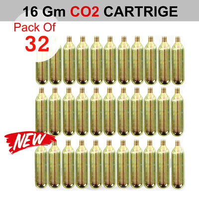 32x 16g Co2 Threaded Cartridge Bicycle Bike Tyre Air Inflator
