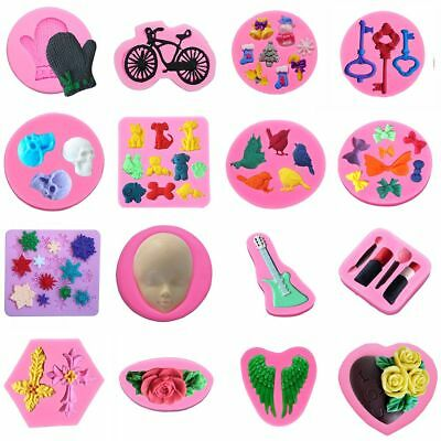 102 Silicone Fondant Cake Mould Decorating Mold Chocolate Baking Sugarcraft Tool