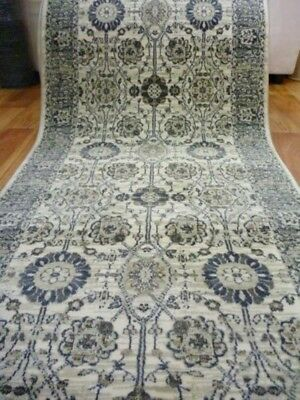 Hall Runner Florence Persian Design Allover Beige 80cm Wide by the Meter