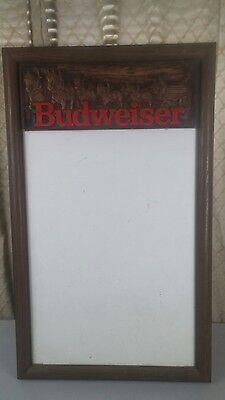Vintage Budweiser Dry Erase White Advertising Board w Clydesdale Coach Display