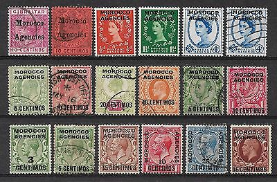MOROCCO AGENCIES 1899-1952 Collection Mint & Used 6 Scans.