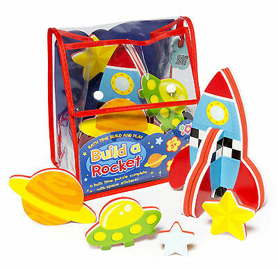 Bath Time Build and Play Rocket Bath Sticker Toys From NSW Australia