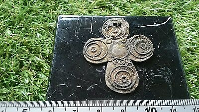 Very rare Beautiful Saxon Bronze cross with filigree decoration unique item