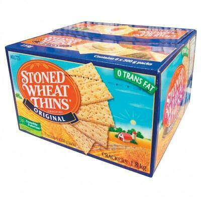 Stoned Wheat Thins Original Crackers 1.8kg 3.97lb from Canada Canadian Wheat