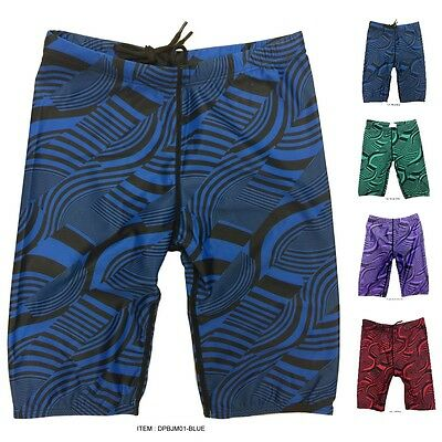 Boys' and Girls'  Striped+Wavy Swim Jammers Swimsuit Shorts Trunks Swimwear