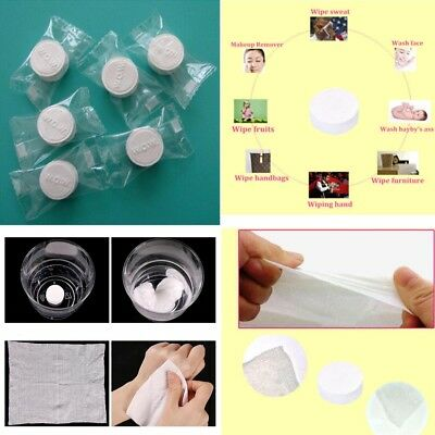 20PCS Compressed Towel / Magic Wipe Soft Cotton Expandable Just Add Water