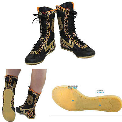 Mens Leopard SE Boxing Boots women training Sports Wrestling shoes trainers 11