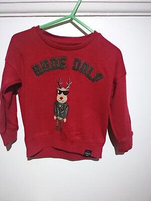 Baby's Rudolph (rudedolph) river island Christmas jumper 12-18 month's