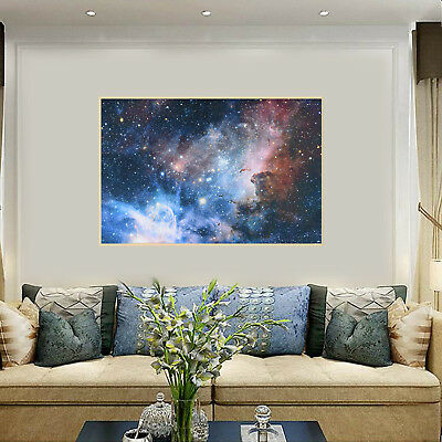 Universe Space Art Silk Cloth Poster Galaxy Planet Nebula Wall Decor 108*60cm
