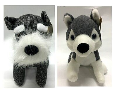 New Cute Dog Door Stopper Fabric Animal Door Stop Schnauzer Husky Home Decor