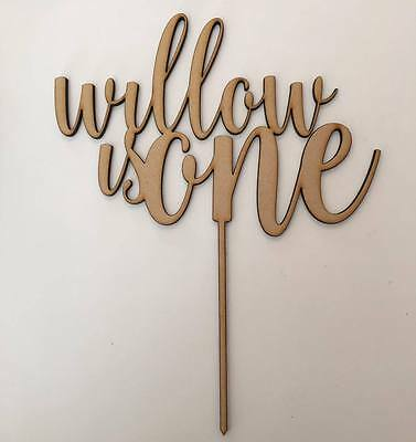 Any Name | Any Age | Cake Topper {Custom Order}