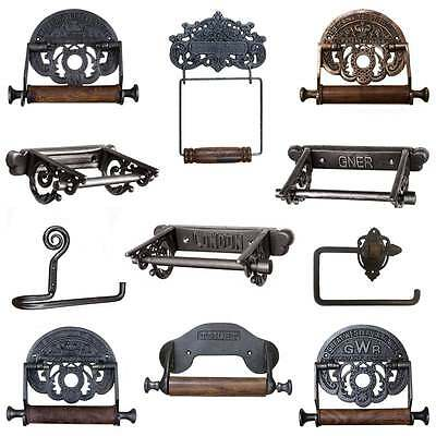 CAST IRON TOILET ROLL HOLDER Vintage Antique Industrial Chic Rustic Retro Design