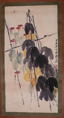 Vivid Rare Old Paper Chinese Morning Glory Hand Painting Marked QiBaiShi PP880
