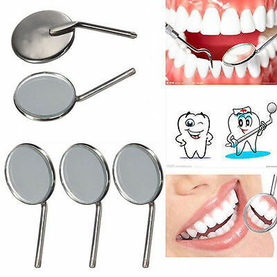 4 x Stainless Steel Handle Dentist Tool for Teeth Inspection Mirror - FREE POST
