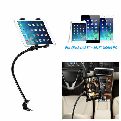 Black Car Floor Seat Gooseneck Mount Holder for iPad and 7-10.1 inch Tablet PC