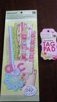 K&Co 'sweet nectar' range punch out pad plus book of matching tags