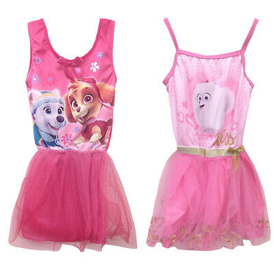Girls Official Paw Patrol Secret Life Of Pets Dress Tutu Party Costume Outfit