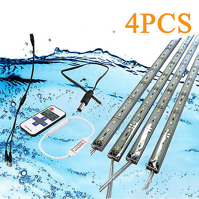 4x 12V Waterproof 5630 Led Strip Lights Bars Camping Caravan Boat Car + Remote