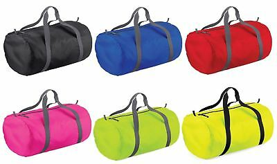 Bagbase Packaway Carry Barrel Bag Gym Dance School College Uni Travel Sports Bag