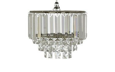 Laura Ashley Capri Chrome 5 Light Chandelier With Clear