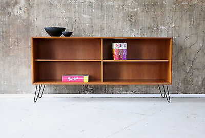 60e REGAL STANDREGAL NUSSBAUM BÜCHERREGAL VINTAGE 60s SHELF CABINET SIDEBOARD