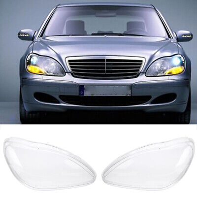1 pair Headlight Clear Lens Cover For Benz W220 S600 S500 S320 S350 S280 98-05
