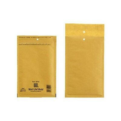 d //-->Mail Lite Sealed Air Size B/00 Padded Envelopes Box of 100 - Gold