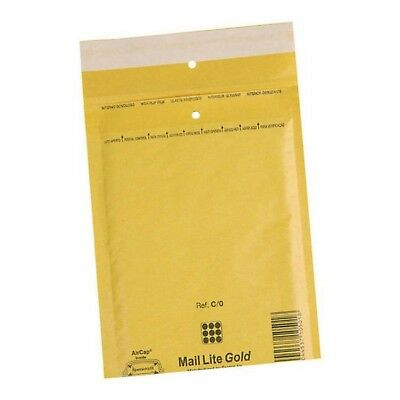 f //-->Mail Lite Sealed Air Size C/0 Padded Envelopes Box of 100 - Gold