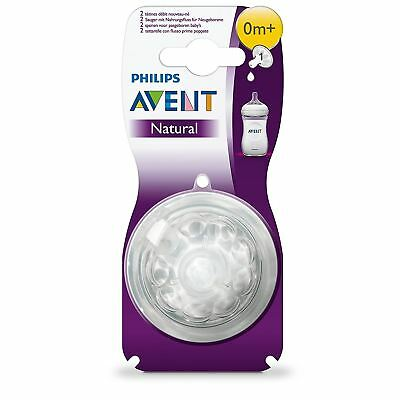 Philips AVENT Natural Newborn Teat Baby Bottle Feeding Essential BPA Free 2 Pack